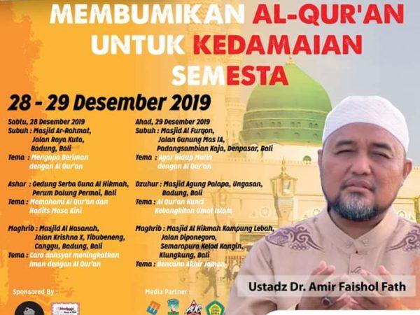 Membumikan Al-Qur'an untuk Kedamaian Semesta