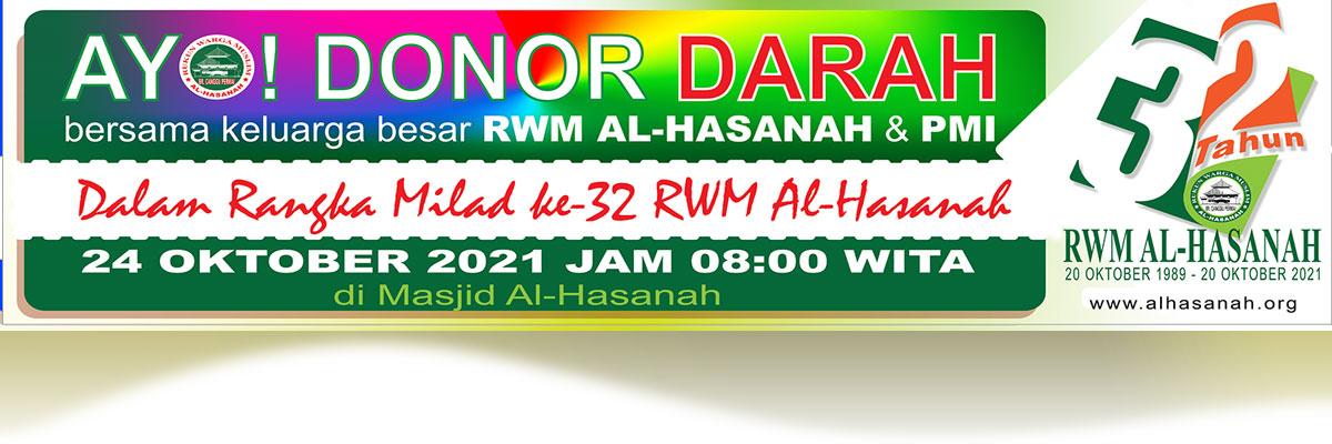 Ayo Donor-darah bersama RWM Al-Hasanah
