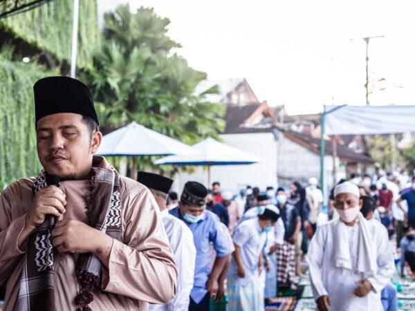 Iedul Fitri 1442 Hijriah di Masjid Al-Hasanah