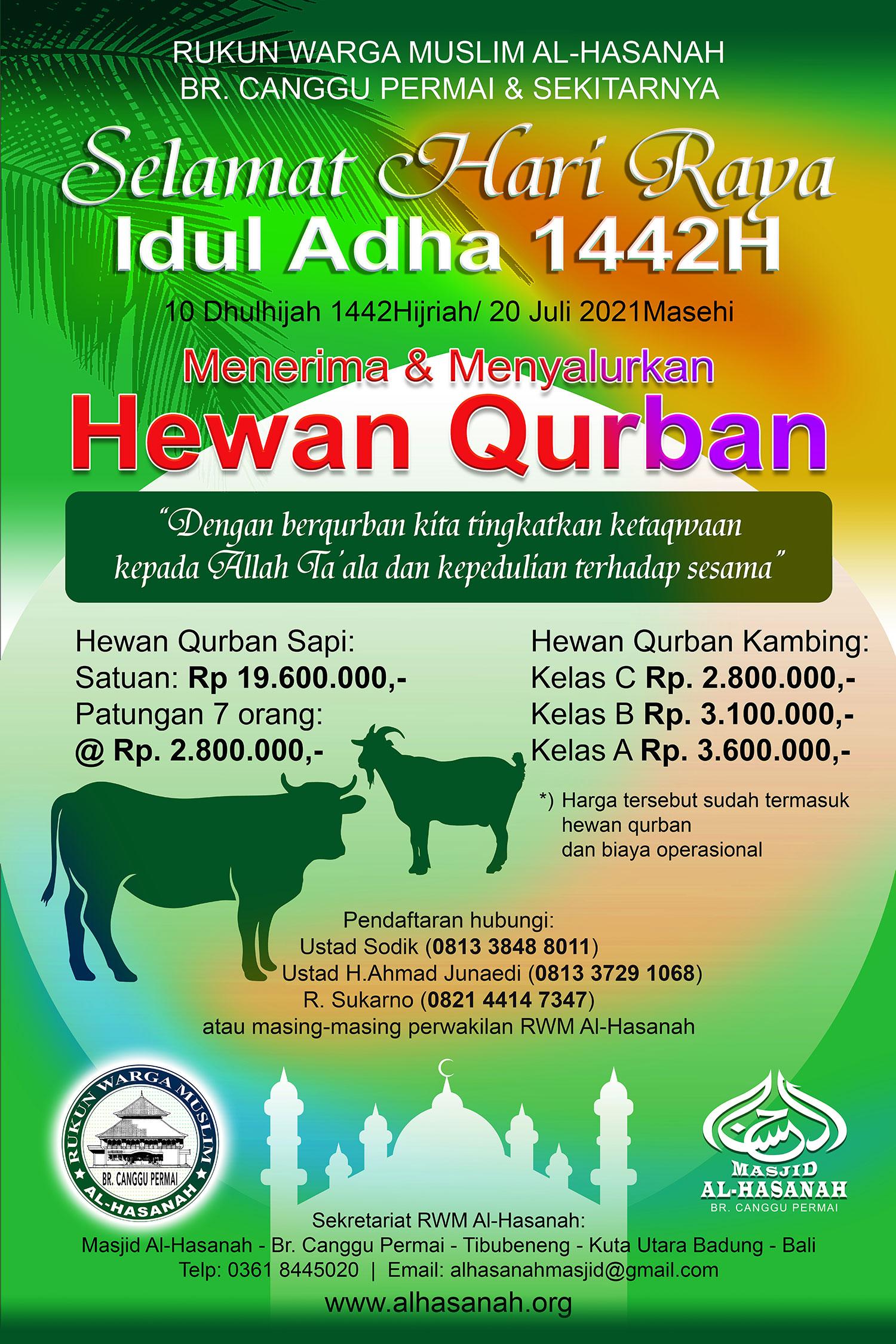 Qurban dimulai dari sekarang!