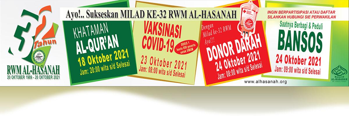 Rangkaian Kegiatan Milad ke-32 tahun RWM Al-Hasanah